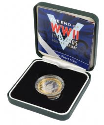 2005 Silver Proof £2 WWII Anniversary for sale
